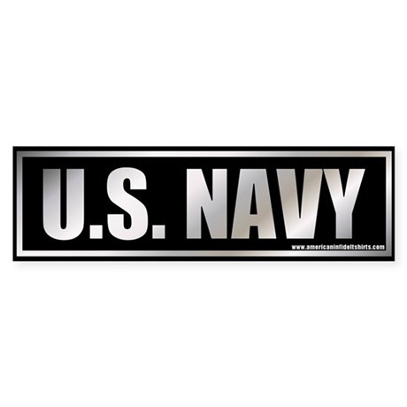 U.S. Navy Metalic Bumper Sticker