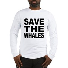 Save whales Long Sleeve T-Shirt