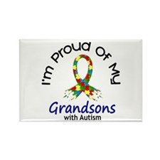 Proud Of My Autistic Grandsons 1 Rectangle Magnet