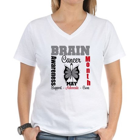 BrainCancerAwarenessMonth Women's V-Neck T-Shirt