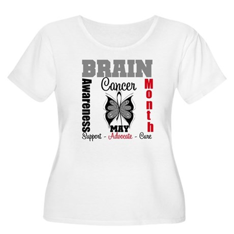BrainCancerAwarenessMonth Women's Plus Size Scoop