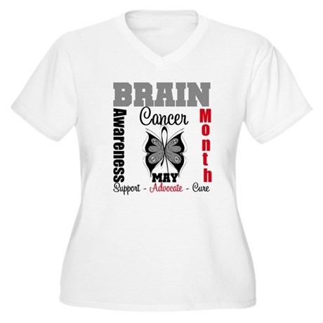 BrainCancerAwarenessMonth Women's Plus Size V-Neck