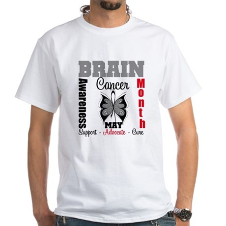 BrainCancerAwarenessMonth White T-Shirt