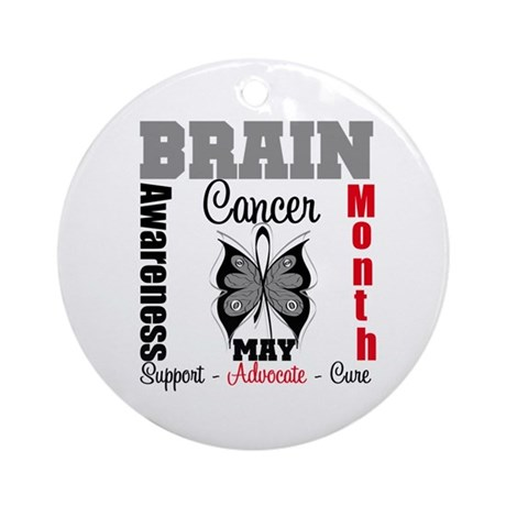 BrainCancerAwarenessMonth Ornament (Round)