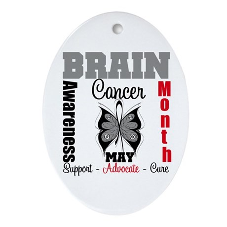 BrainCancerAwarenessMonth Oval Ornament