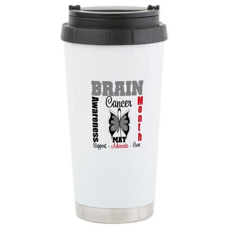 BrainCancerAwarenessMonth Ceramic Travel Mug