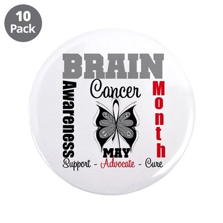 "BrainCancerAwarenessMonth 3.5"" Button (10 pack)"
