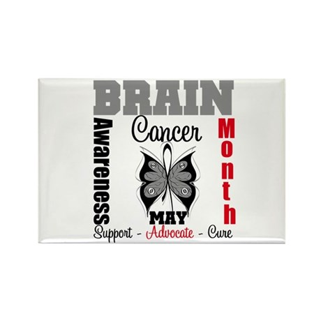 BrainCancerAwarenessMonth Rectangle Magnet