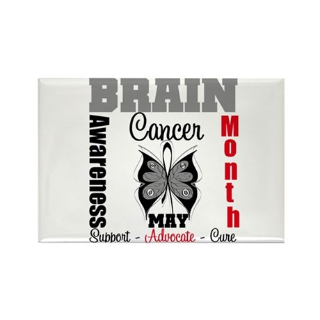 BrainCancerAwarenessMonth Rectangle Magnet (100 pa