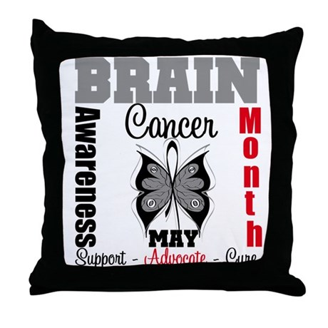 BrainCancerAwarenessMonth Throw Pillow