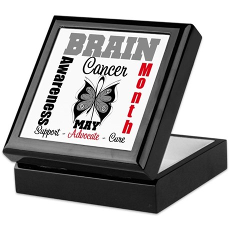 BrainCancerAwarenessMonth Keepsake Box