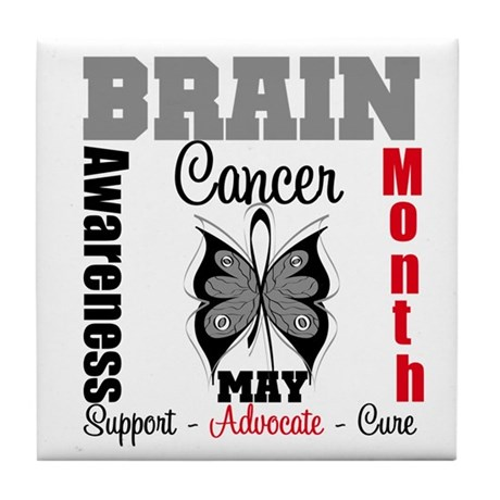 BrainCancerAwarenessMonth Tile Coaster