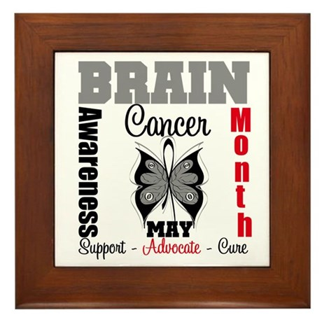 BrainCancerAwarenessMonth Framed Tile