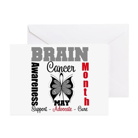 BrainCancerAwarenessMonth Greeting Cards (Pk of 10