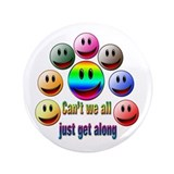 "Can't we all just get along 3.5"" Button (10 pack)"