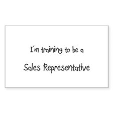 I'm training to be a Sales Representative Decal
