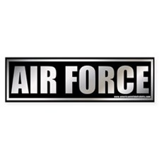 Metalic Air Force Bumper Bumper Sticker