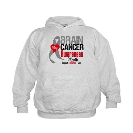 Brain Cancer Month Kids Hoodie