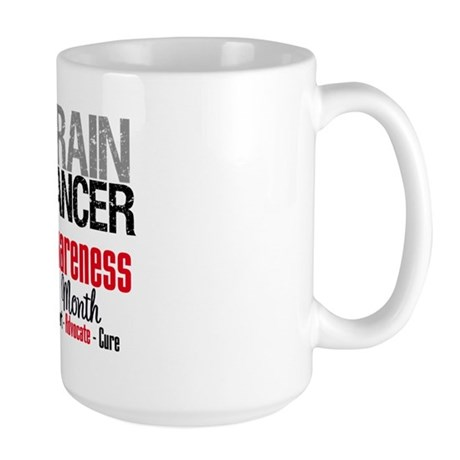 Brain Cancer Month Large Mug