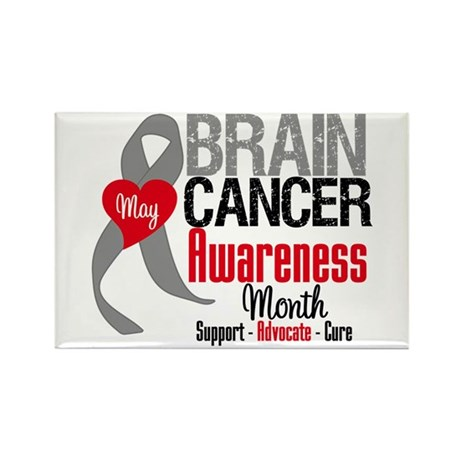 Brain Cancer Month Rectangle Magnet