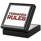fernanda rules Keepsake Box