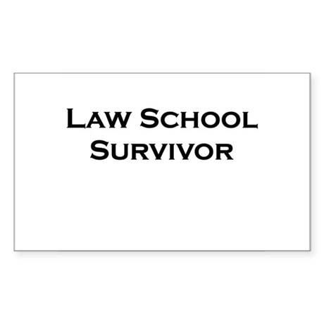 Law School Survivor Rectangle Sticker