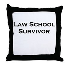 Law School Survivor Throw Pillow