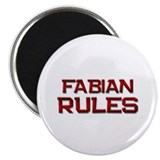 "fabian rules 2.25"" Magnet (10 pack)"