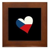 Czech Heart Framed Tile