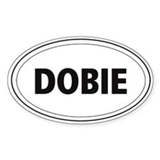 "Doberman ""Dobie"" Oval Decal"