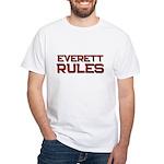 everett rules White T-Shirt