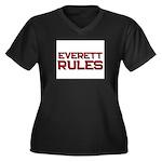 everett rules Women's Plus Size V-Neck Dark T-Shir
