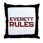 everett rules Throw Pillow