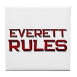 everett rules Tile Coaster