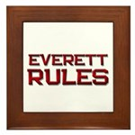 everett rules Framed Tile