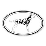 Dalmatian Profile Oval Decal