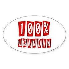 100% Ugandan Oval Decal