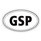 German Short-haired Pointer (GSP) Oval Decal