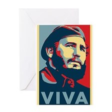 Viva_Fidel Greeting Cards