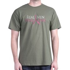 Real Men Wear Pink (Ribbon) T-Shirt