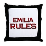 emilia rules Throw Pillow