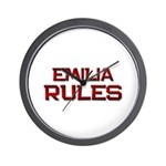 emilia rules Wall Clock