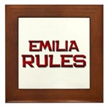 emilia rules Framed Tile