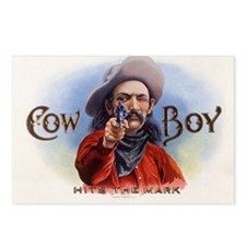 Vintage Cigar Label Art Cowboy Postcards (Package