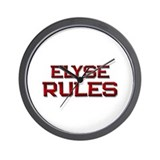 elyse rules Wall Clock