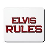 elvis rules Mousepad