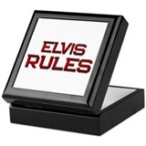 elvis rules Keepsake Box