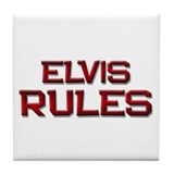 elvis rules Tile Coaster