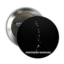 "Flag Map of NORTHERN MARIANA 2.25"" Button (10 pack"