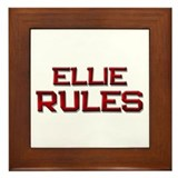 ellie rules Framed Tile
